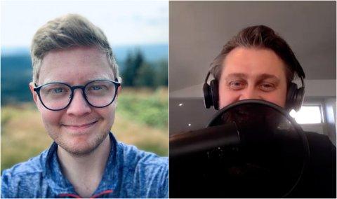 KJENT FJES: Thomas Numme (til høyre) er en av flere kjendiser som er med i podkasten Erlend Arnesen er programleder for.