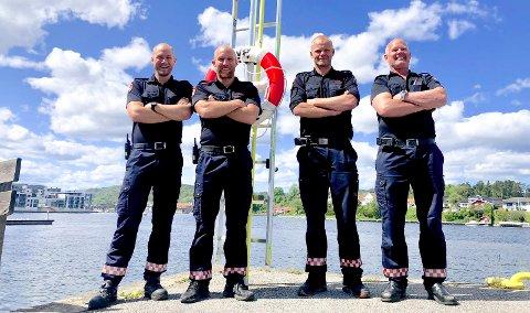 BARSKE MENN: Anders Thorjussen, Joakim Tveitan, Nils Nilsen og Lars Vrålid.