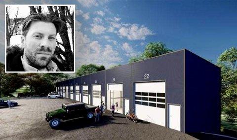 LAGERHALLER: Carl Jørgen Owre mener flere burde se potensialet som ligger ved Rudskogen Motorsenter. Selv har han investert i fire lagerhaller.