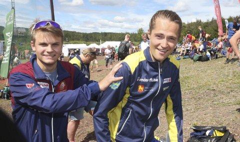 SKYV MOT VM: Even-Johan Kaspersen gir Yngve Skogstad fart mot de siste VM-uttakskonkurransene. Foto: Erik Borg