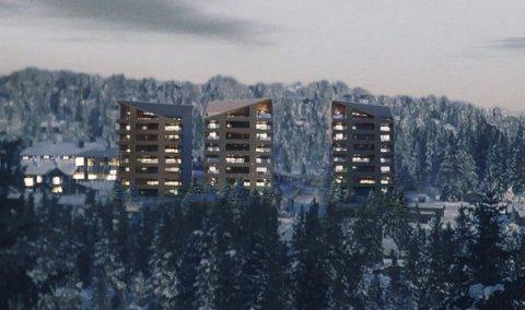 Omstridt: Pihl AS sier at Birkebeiner Invest ikke har det privatrettslige grunnlaget for å regulere Sjusjølia, og be rkommunen stanse arbeidet. - Det kan ikke kommunen gjøre på det nåværende tidspunkt, svarer rådmannen. Illustrasjon: Nordic Office of Architecture