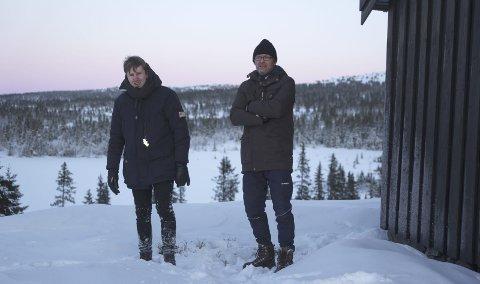 Premiere i Moelv: – Innspillingen starter i januar, sier Andreas Skaugen og Arne Kristoffer Wang Holthe. Allerede i mars satser de på premiere i Oslo og Moelv. Filmen skal også sendes til filmfestivaler i inn- og utland.Foto:Privat.