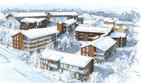 POPULÆRE: 55 av de 86 leilighetene i prosjektet «The View» som Sjusjøen Utvikling står bak, er solgt. Tegning: Heggelund & Koxvold AS.