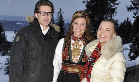 Prinsesse Märtha Louise med søskenparet Mari Silje og Håkon Samuelsen gjorde TV-opptak på Sjusjøen. 25. november 2010