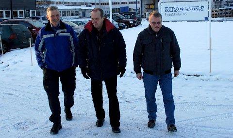 """Tre """"Bjørner"""" takket for seg: Bjørn Øyjordet fra Veldre, Bjørn Ekeberg fra Moelv og Bjørn Halvorsen fra Jølstad. 11. desember 2010"""