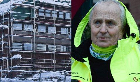 SPØKELSESHUS: - Ingen er tjent med at det tidligere hotellet ikke blir ferdigstilt, sier Roger Larsen (Frp).