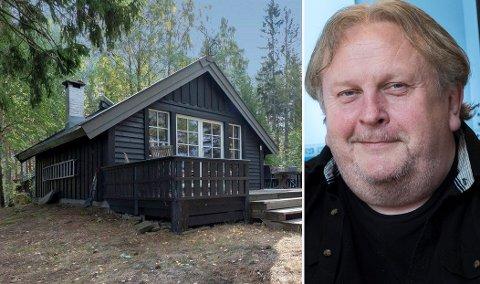 HYTTE PÅ ØY:  Erik Stokke så at beliggenheten på en øy kunne gi noen utfordringer med logistikken, som det heter, men før hyttekjøpet så han det ikke som noen hindring.