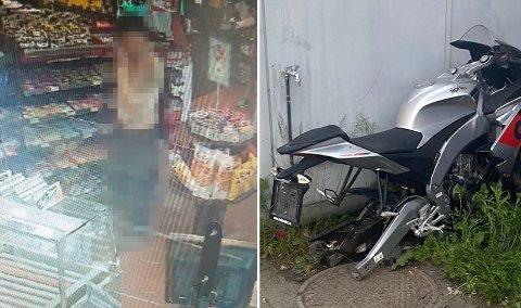 MANNEN LÅNTE VERKTØY: Per nå har denne mannen status som vitne, etter at han lånte verktøy på bensinstasjonen. Like etter oppdaget man at Tim Rudi Smedhaugens (17) lettmotorsykkel var demontert og ødelagt. Foto: Privat