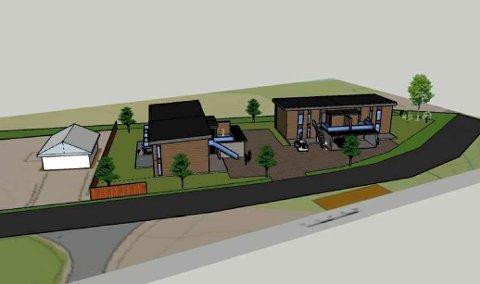 PLANER: Slik kan leilighetsbyggene bli seende ut på Nørstegard 10 A og  B. (foto Prosjektform AS)