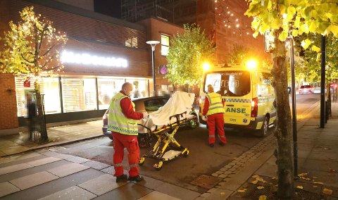 MASSESLAGSMÅL: Lørdag kveld var det et masseslagsmål utenfor McDonald's, hvor fire personer ble skadet. Hendelsen er noe som opptar folk i Sandefjord, deriblant på Facebook.