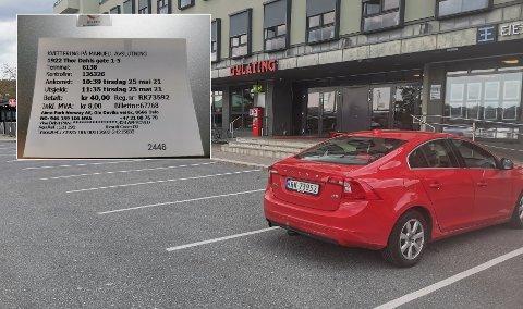 KVITTERING: Ser du hvorfor Egil Nordberg fikk en bot for denne parkeringen? Nå håper han parkeringsselskapet innser at det kan skje de fleste, og at han slipper å betale de 600 kronene.