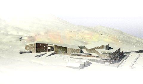 STORSATSING: Slik kan fjellandsbyen bli liggjande i lett skråande terreng i Rindabotn. I framgrunnen plasseringa Dalalåven.