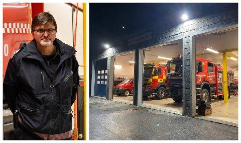 NYE BEHOV: Brann- og redningssjef Vidar Trettenes har ny stigebil på planen, men treng betre stasjonsforhold til slikt reiskap.