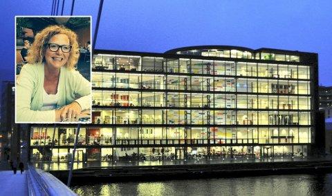 KRITISK: Verneombud ved Universitetet i Sørøst-Norge i Drammen Siri Meyer synes ikke noe om at bare ledergruppen har fått julegave. Foto: DT arkiv/USN