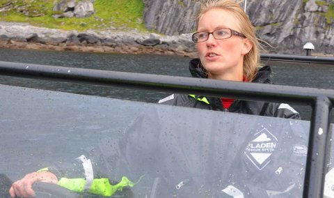 BLE LURT: De fire litauerne lot regningen ligge ubetalt etter fisketuren hos Therese Amalie Holtan Larsen i Aqua Lofoten coast adventure AS.