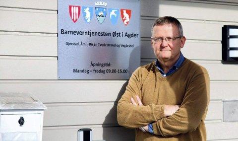 En viktig jobb: Knut Hagen er leder av barnevernstjenesten Øst i Agder. Dett er et interkommunalt samarbeid hvor Gjerstad er vertskommune. Foto: Arkiv