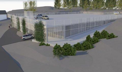 Nytt bygg nær sjøen: Dette parkeringsanlegget ønsker Tvedestrand Vekst å bygge nær Persøygard ved Hagefjordbrygga. Planen er at anlegget skal stå klart til neste sommer.