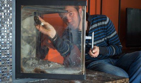 ANBEFALERRENGJØRING:Ved å gå over glassdøren med midler som fjerner aske og sot, blir fyringen en hyggeligere affære.