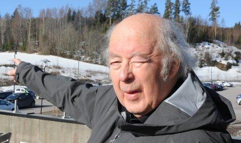 SENTRUMSUTVIKLING: Reidar Eckhoff er fortsatt engasjert i byggeskikk. Han var relativt uenig med Tore Berg om hvordan Nittedal sentrum skulle videreutvikles for et par år siden.
