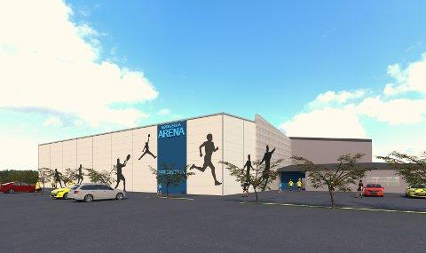 Den nye hallen blir på 25x45 meter.