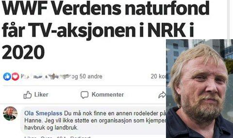 Ola Smeplass svarte på fylkesaksjonsleder Hanne Myrvang sitt Facebook-innlegg.