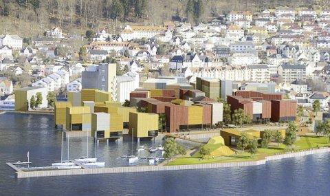 Bildet viser skisser for fortetting der Neumann Bygg og Kristiansholm ligger. – Vi må ta vare på byens egenart, skriver innsenderen av dette innlegget. ILLUSTRASJONSFOTO: Bergen Kommune.
