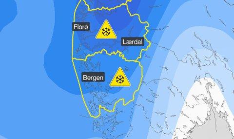 Slutten av påsken byr på dårlig vær. Meteorologisk institutt har sendt ut farevarsel om snø på Vestlandet.