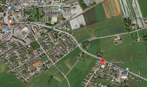 Utbygging: Selskapet The Property Group vil utvikle Score-tomta ved Randabergveien (nede til høyre) med boliger og nærbutikk. Men først må planpolitikerne i Randaberg gjøre en såkalt prinsippavklaring.