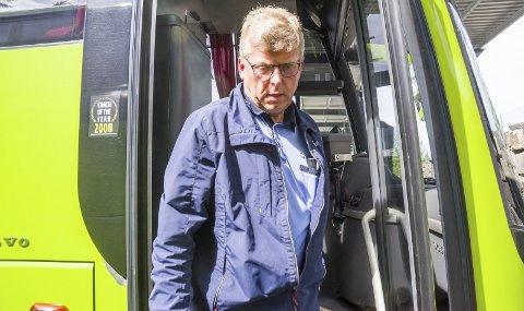 KRITISK: Olav Berg er kritisk til at det tok politiet nesten 45 minutter å respondere på hans oppringning om en vanskelig passasjer.