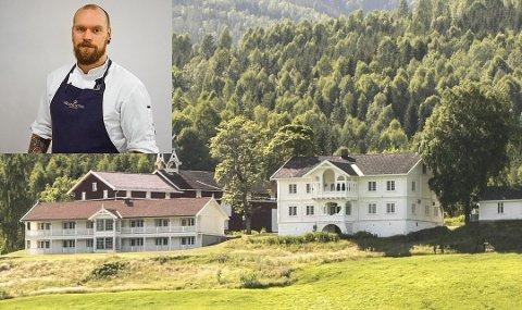 FEMSTJERNERS: Den nye kjøkkensjefen på Ringnes gård i Noresund heter Tom Vaagbø, og han kommer rett fra ærverdige Grand Hotel i Stockholm.