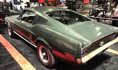 Her står den – bilen Steve McQueen rattet i filmen Bullitt. I flere tiår var det ingen som ante hvor bilen befant seg, og den ble stadig mer legendarisk. I år dukket den plutselig opp på Detroit Autoshow. Nå står den også utstilt på bilutstillingen i Los Angeles.