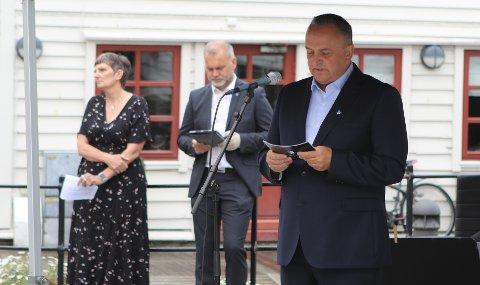DAGENS TALARAR: Frå venstre: Solveig Willis, Ola Teigen og Terje Heggheim.