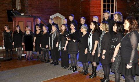 Sangglede: Tomb Kammerskor holdt jubileumskonsert i Tomb kirke søndag kveld. Begge foto: Boe Johannes Hermansen