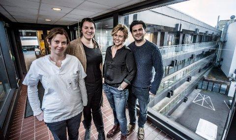 STARTER OPP SELV: Legene Hanne-Sofie Spenning Dahlback, Ida Dahle, Line Brekke, Bekim Morina og Muhamad Awais (ikke til stede da bildet ble tatt) har startet nytt firma for å kunne fortsette legevirksomheten.