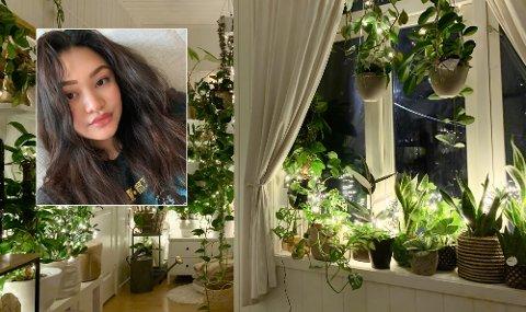ET SOVEROM HVOR PLANTENE HAR TATT OVER: På soverommet har Samielle Støyl (22) over 50 planter.