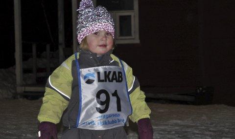 DELTOK: Nummer 91, unge Iben Margrethe Brynildsen, var en av 40 som gjennomførte skirenn i 13 minusgrader og skoleferie.