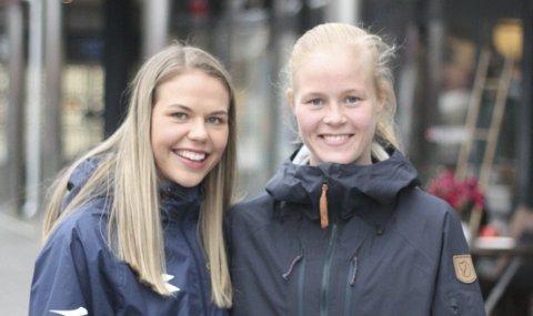 NARVIKDUO I RØA: Vilde Fjelldal , til venstre og Katrine Winnem Jørgensen. Foto. Sverre Ruud Ellingsen
