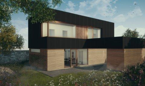Arkitektkontoret Vest har tegnet skisser til eneboligene som skal stå på de kommunale tomtene i Kodlidalen.