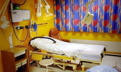 FØDESTUA: I fødestua ved Kongsvinger sjukehus skulle aktiviteten ha vært større. Det er for få fødsel her når man ser på befolkningsstatistikken for regionen, fødselsoverskuddet er for lavt.                                                                 FOTO: JENS HAUGEN