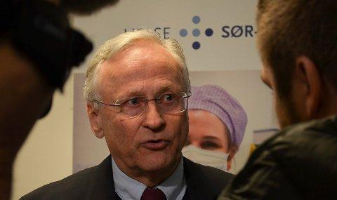 TVILENDE: Styreleder Svein I. Gjedrem i Helse Sør-Øst stiller seg tvilende til nullpluss-alternativet, som Elverum nå går inn for.