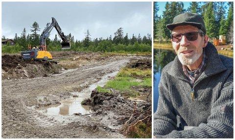 SETTER SPOR: Tor Anton Andersen har hytte på Budor og er bekymret for naturinngrep der det skal bygges nye hyttefelt.