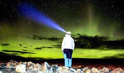 4. MAGISK: Nordlys ved Juvasshytta. Foto: Kristin Åvangen