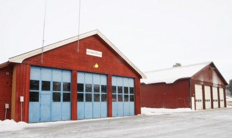 BYGGESTART: Ny brannstasjon på Lesjaskog får plassmuligheter for å kunne sette stab i krisesituasjoner.