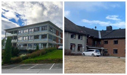 FÅR BESØK IGJEN: Fra mandag kan pårørende avtale besøk på omsorgssentrene i Gran kommune. På bildet ser vi Skjervum helse og omsorgssenter på Gran (til venstre) og Marka helse- og omsorgssenter i Brandbu.