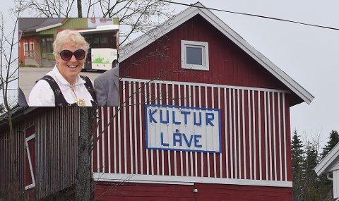 KULTURLÅVE: Kurs- og konferanser ble også arrangert i dette bygget. Anna Hamar (innfelt er nærmeste nabo).