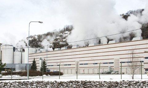 SELGES: Norske Skog Saugbrugs er en av sju fabrikker som er til salgs.