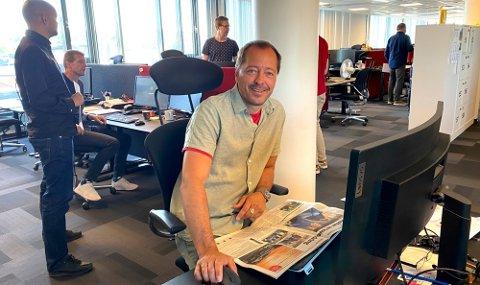 Sjefredaktør René Svendsen i Fredriksstad Blad.