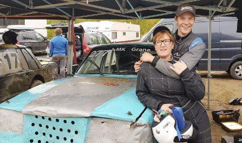 BEST: Ann Kristin Sørensen lånte bil av tantebarnet Bent Inge Sørensen. Hun måtte takke fint etter at hun vant røverheatet med bilen.  Foto: Susann Tangen