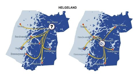 Geografisk fremstilling, med demografisk punkt angitt med oransje markering.