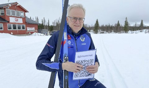 UTVIDER: Leder i Mosjøen IL Ski, Bjørn Rønning, vil har flere ut i løypa i det åpne Sjåmorennet. Nå kan de interesserte gå helt fram til fredag etter påske. Foto: Per Vikan
